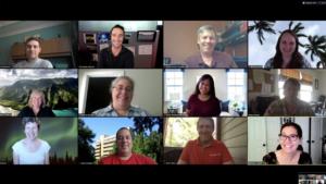 Zoom meeting with twelve participants